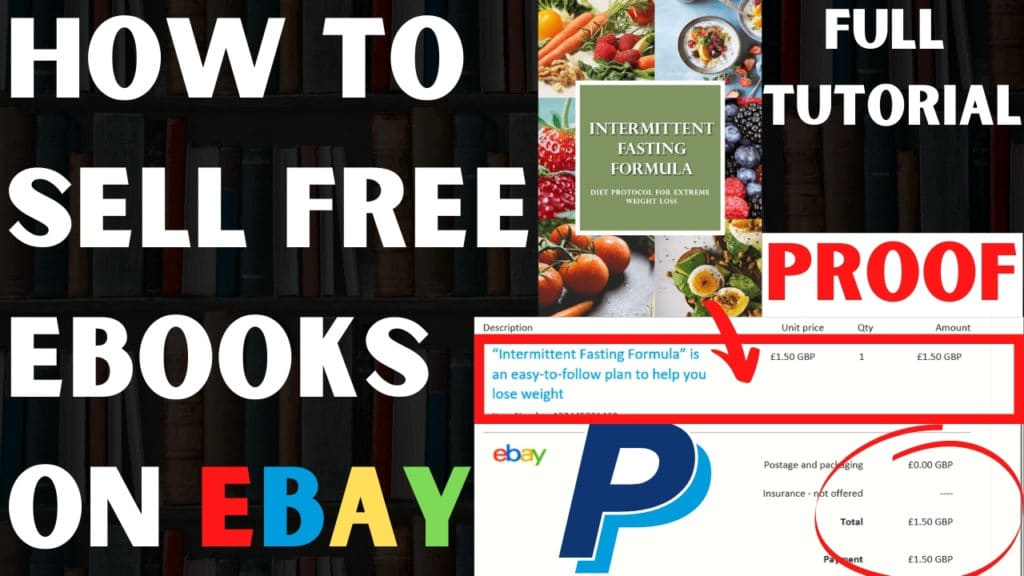 how to sell plr ebook on ebay
