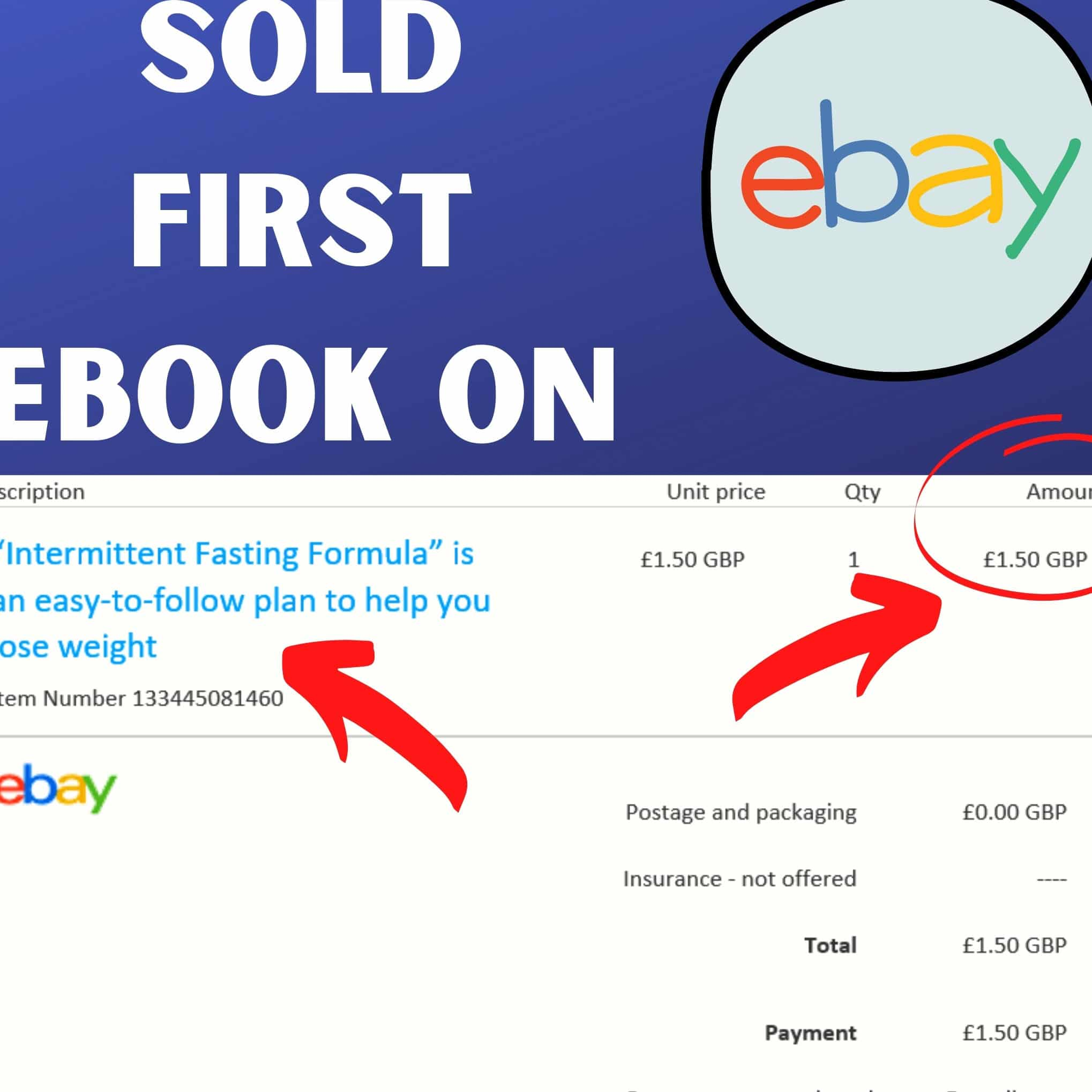 this image show the my proof so selling plr ebook on ebay